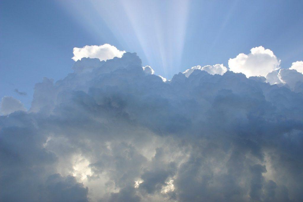 Prophecy: Sun shining through clouds